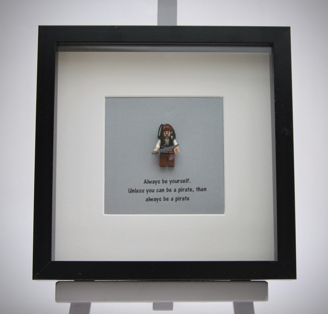 Always be yourself pirate mini Figure frame