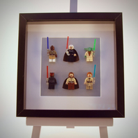 Star Wars Episodes 1 & 2 mini Figure frame