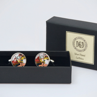 Thor, Super Hero Silver Plated Cufflinks .