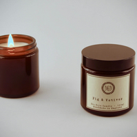 Eco soya scented candle - Fig & Vetiver 120 ml