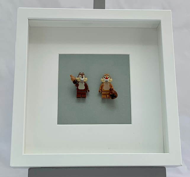 Disney Chip 'n' Dale Lego mini Figures framed picture .