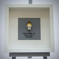 When I grow up I want to be a Ballerina LEGO mini Figure frame