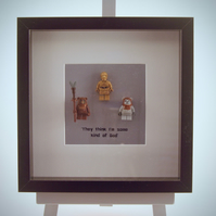 Return of the Jedi mini Figures framed picture 25 by 25 cm