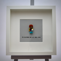 I'd Rather be at the gym LEGO mini Figure frame