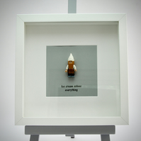 Ice Cream solves everything mini Figure framed picture