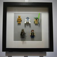 Star Wars mini Figures framed picture