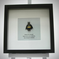 Always be yourself Batman mini Figure framed picture