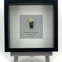 Billy Idol Lego mini Figure framed picture