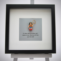 Wonder Woman mini Figure framed picture