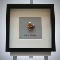Have a Nice Day LEGO mini Figure frame