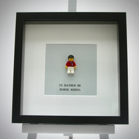 I'd Rather be Horse Riding LEGO mini Figure frame.