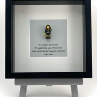 Cher  custom Lego mini Figure framed picture 25 by 25 cm