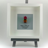 When I grow up I want to be a florist mini Figure frame.