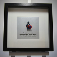Captain America  - Always be yourself mini Figure frame