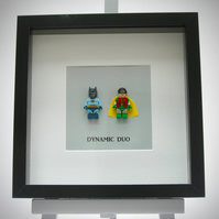 Original Batman & Robin Super Hero mini Figures frame.