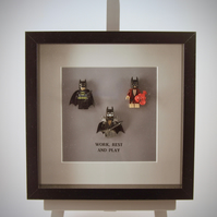 Batman-Work rest & play mini figure frame