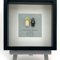 King Kong custom Lego frame.