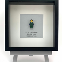 I'm a Paramedic Whats your super power LEGO mini Figure frame