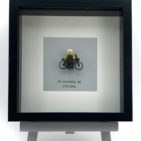 I'd Rather be Cycling custom mini Figure frame.