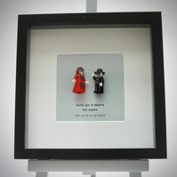 Day of the Dead Bride and Groom mini figure frame