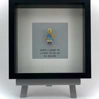 When I grow up I wasn't to be an Ice skater Lego mini Figure frame
