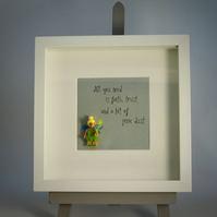Tinker bell ....Pixie Dust mini Figure frame