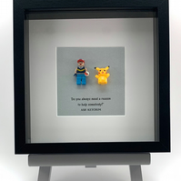 Pokemon - Ash & Pikachu  mini Figure frame.