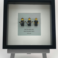 The Jam custom  Lego mini Figure frame