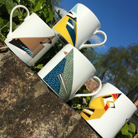All 4 Bird Mugs