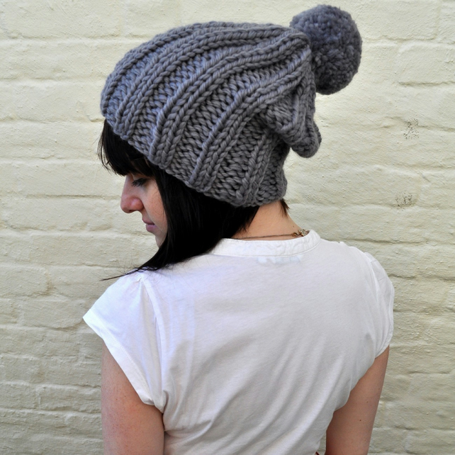 Knitting Pattern For Bobble Hat : KNITTING PATTERN PDF The Lazy Bobble Hat - Folksy