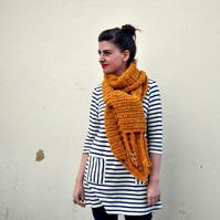 The English Mustard Scarf - Campaign for Wool