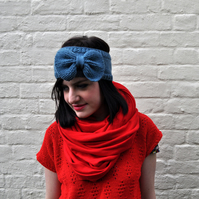 KNITTING PATTERN PDF The Peek-A-Bow Headband