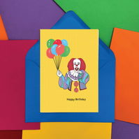 Pennywise from IT Happy Birthday Card