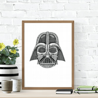 Darth Vader Star Wars A4 Print