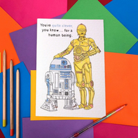 C3PO & R2D2 from Star Wars Note Book