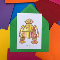 Tik-Tok from Return To Oz Card