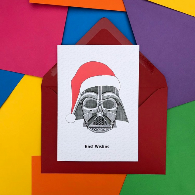 Darth Vader from Star Wars Christmas Card