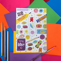 Retro Vintage Sweets Note Book