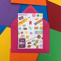 Retro Sweets Card