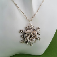 Narnia bookish jewelry, origami rose pendant, eco-friendly gifts for women, book
