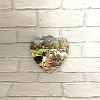 Countryside Farmyard Slate Wall Hanging