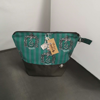 Set of 3 Harrypotter slytherin Themed Project bags.