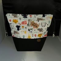 Medium Cheeky cat Theme project bags.
