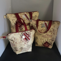 Set of 3 Harrypotter Themed Project bags.
