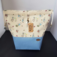 Set of 3 Peter rabbit project bags.
