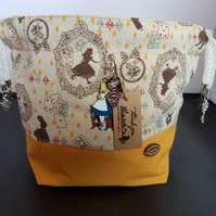 Medium Alice in wonderland Theme project bags