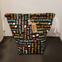 Knitting crazy project bags