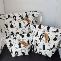 Set of 3 Cat project bags.