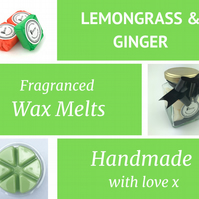 Lemongrass and Ginger Soy Wax Melt for use in wax & oil burners