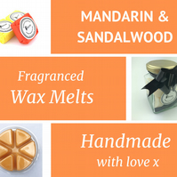 Mandarin and Sandalwood Soy Wax Melt for use in wax & oil burners
